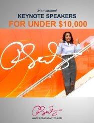 Motivational Keynote Speakers for Under $10000