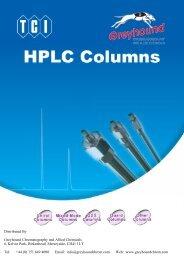 Tokyo Chemical Indistries (TCI)  HPLC Columns