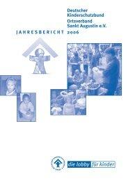 JAHRESBERICHT 2006 Deutscher Kinderschutzbund Ortsverband ...
