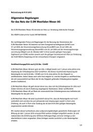 Preisblatt Entgelte Netznutzung Strom - E.ON Westfalen Weser