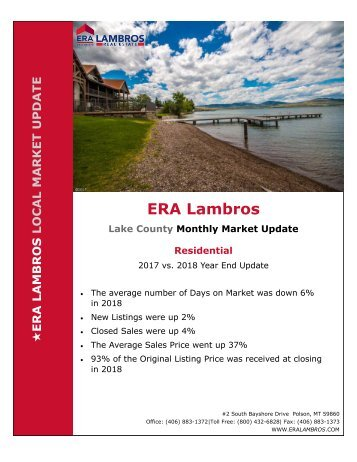 EOY Lake Residential Update - 2018