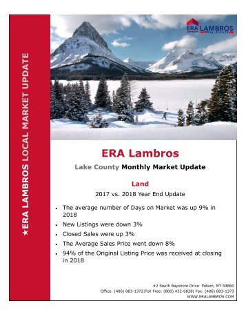 EOY Lake Land Update - 2018