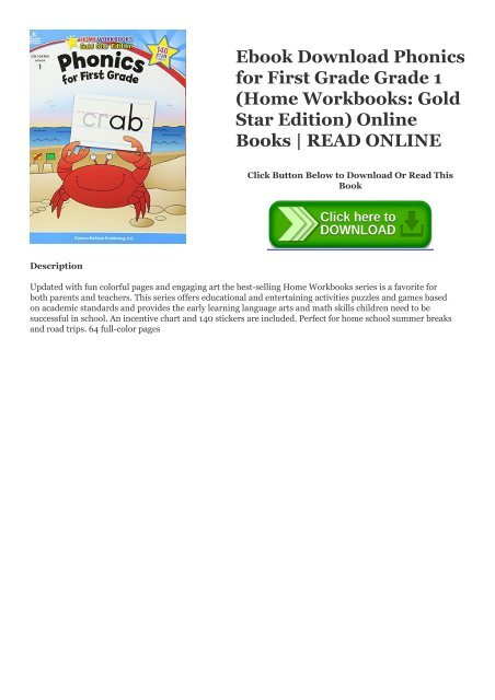 Ebook Download Phonics for First Grade Grade 1 (Home Workbooks: Gold