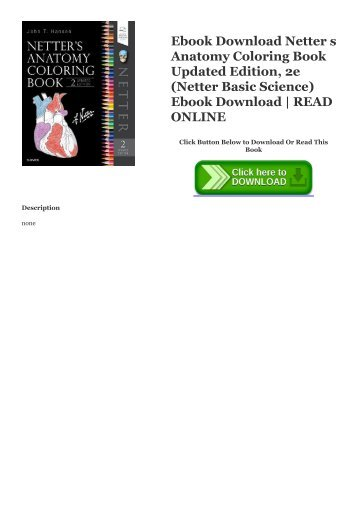 PDF] Netter s Concise Orthopaedic Anatomy, Updated Edition, 2e ...