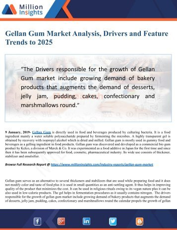 Gellan Gum Market 2025 Industry Growth by Challenges, Opportunities