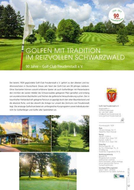 GOLFLand Baden-Württemberg 2019 - Schönes Spiel auf über 90 Plätzen