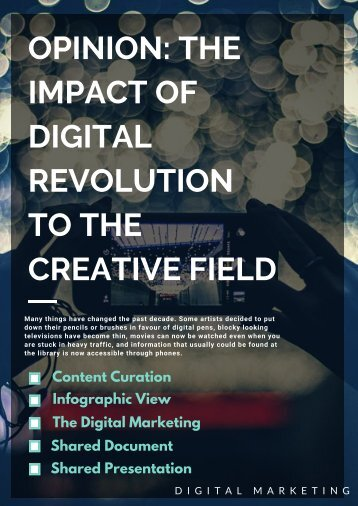 OPINION_ THE IMPACT OF DIGITAL REVOLUTION TO THE CREATIVE FIELD