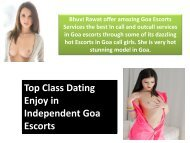 Top Class Dating Enjoy in Independent Goa Escorts
