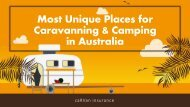Most Unique Places for Caravanning & Camping in Australia