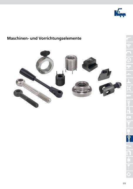 Form S DIN 6311 Druckstück mit Sprengring S 20 Stahl blan Gewindestift M 10