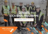 WCS Clydebank - Vocational Schools Programmes 2019-20