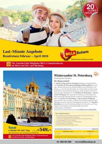 BILLA Reisen Folder Ferien-Messe 2019