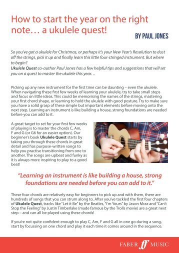 How to start the year on the right note with Ukulele Quest