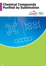 Tokyo Chemical Industires (TCI) Chemical Compounds Purified by Sublimation