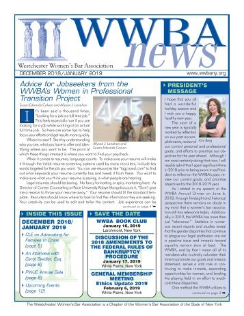 WWBA December 2018/January 2019 Newsletter - M