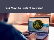 Four Ways to Protect Your Mac
