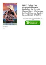 [PDF] Online Her Cowboy Billionaire Bachelor: An Everett Sisters Novel (Christmas in Coral Canyon, Band 6) Epub | READ ONLINE
