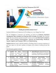 Customer Experience Management Meet 2019, Sri Lanka