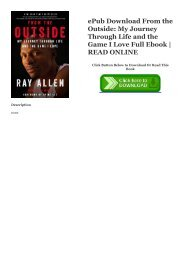 ePub Download From the Outside: My Journey Through Life and the Game I Love Full Ebook | READ ONLINE