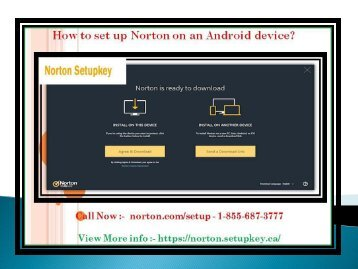 How to set up Norton on an Android device?