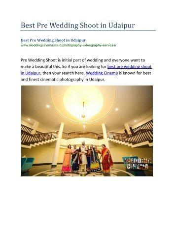 Best Pre Wedding Shoot in Udaipur