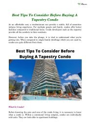 Best Tips To Consider Before Buying A Tapestry Condo