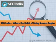 SEO India – Where the Habit of Being Success Begins