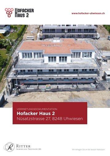 Vermietungsdokumentation Hofacker Haus 2, 8248 Uhwiesen