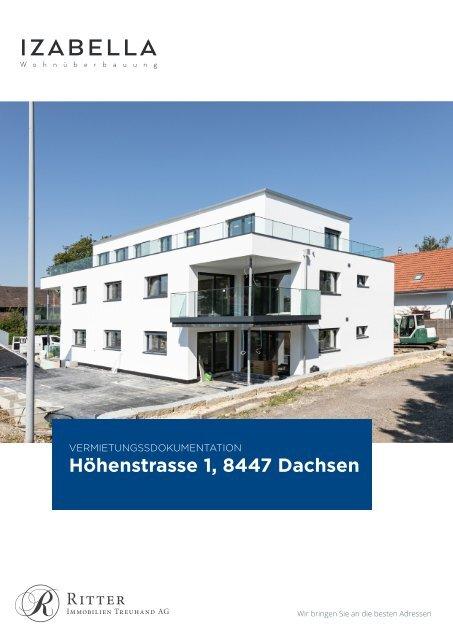 Vermietungsdokumentation Wohnüberbauung Izabella,  Höhenstrasse 1, Dachsen