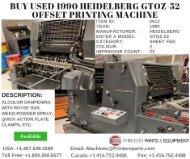 Buy Used 1990 Heidelberg GTOZ-52 Offset Printing Machine
