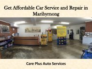 Get Affordable Car Service and Repair in Maribyrnong