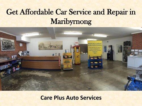 Get Affordable Car Service and Repair in Maribyrnong