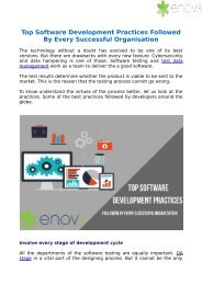 Top Software Development Practices Followed By Every Successful Organization