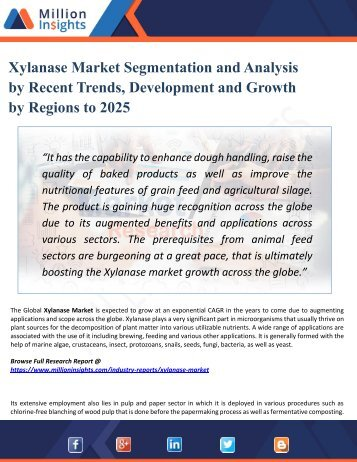 Xylanase Market Overview, Industry Top Manufactures, Market Size, Industry Growth Analysis & Forecast: 2025