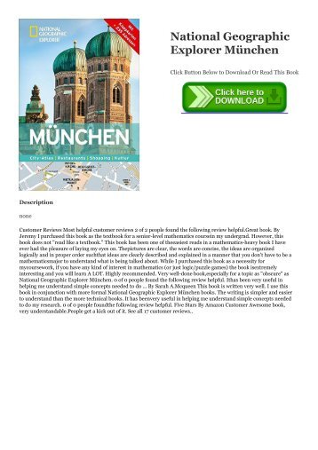 Ebook Download National Geographic Explorer München Full Online | READ ONLINE