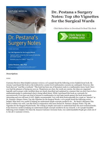 Pdf Download Dr Pestana S Surgery Notes Top 180 Vignettes For The