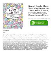 Read Kawaii Doodle Class: Sketching Super-cute Tacos, Sushi, Clouds, Flowers, Monsters, Cosmetics, and More Full Online | READ ONLINE