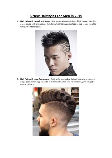 5 Best New Hairstyles For Men