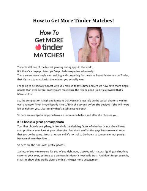 Tinder dating guide Deutsch nedladdning