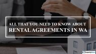 Understanding The Details Of Rental Agreements In WA