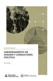 Folleto Máster en Asesoramiento de Imagen y Consultoría Política 2019-2020 COMPRIMIDO