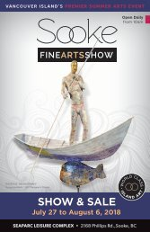 2018 Sooke Fine Arts Show Catalogue