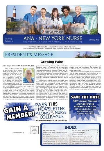 ANA New York Nurse - January 2019