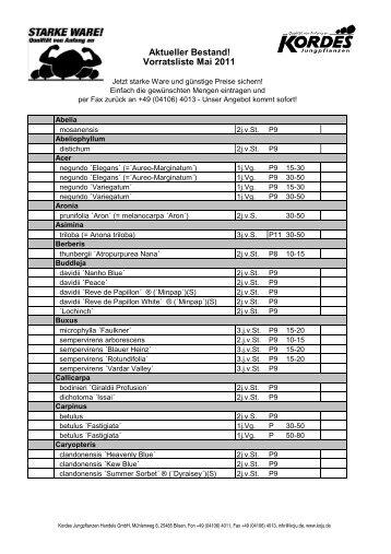 Kopie von Vorratsliste 2011-05-02 - Kordes-Jungpflanzen