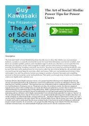 The Art Of Social Media Pdf