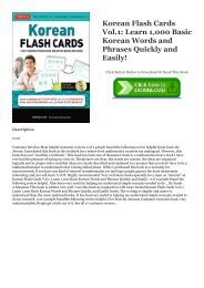 $^PDF Korean Flash Cards Vol.1: Learn 1,000 Basic Korean Words and Phrases Quickly and Easily! #^BOOK Soohee Kim