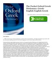 PDF A Greek-English Lexicon of the New Testament and Other
