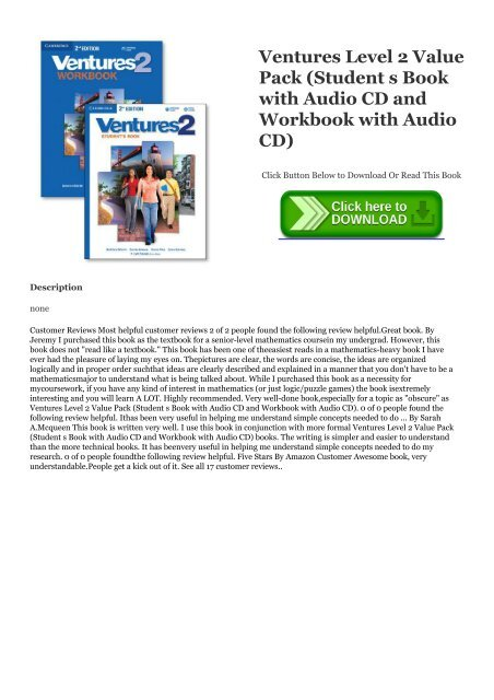 Ventures Level 2 Students Book with Audio CD