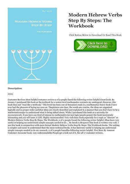 PDF] DOWNLOAD Modern Hebrew Verbs Step By Steps: The