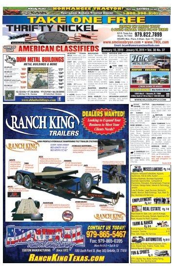 Thrifty Nickel Jan. 10th Edition Bryan/College Station